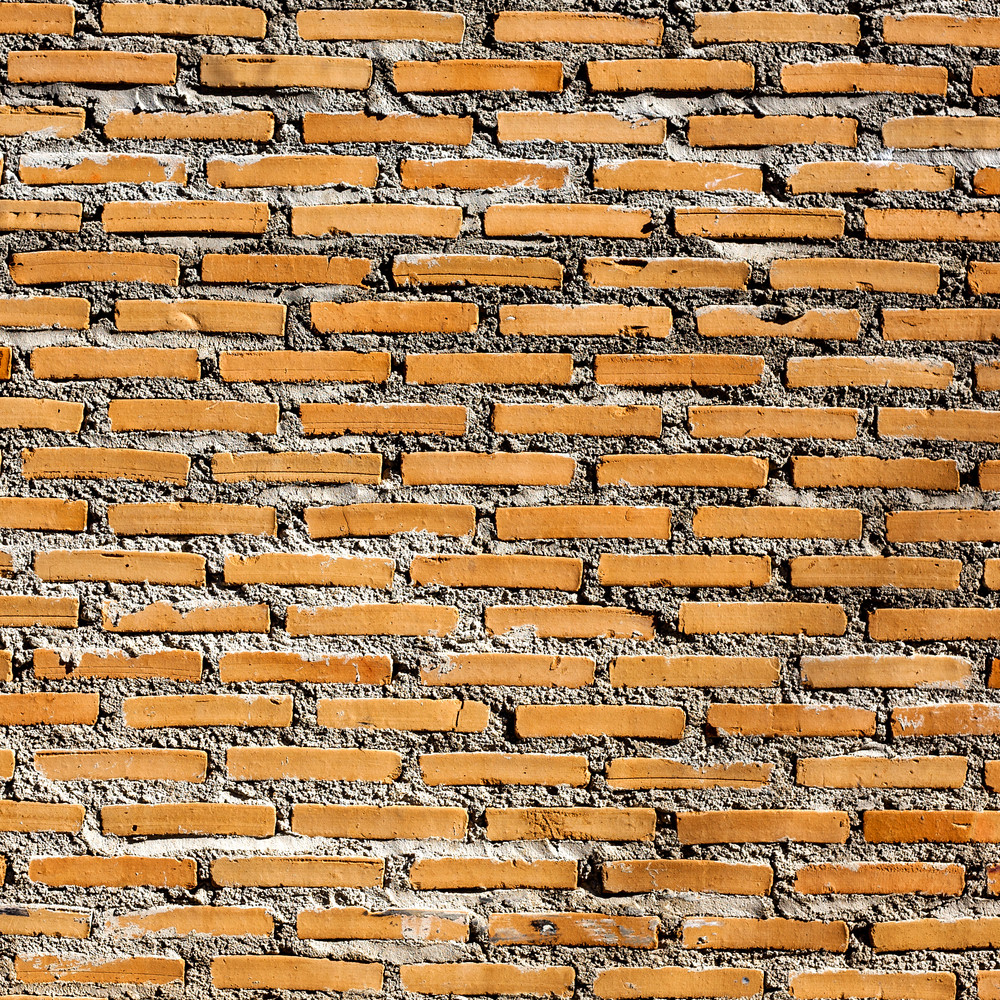 Background of orange brick wall texture