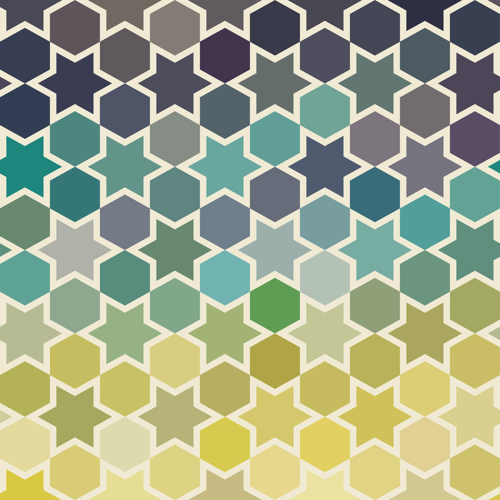 Background Of Repeating Geometric Stars