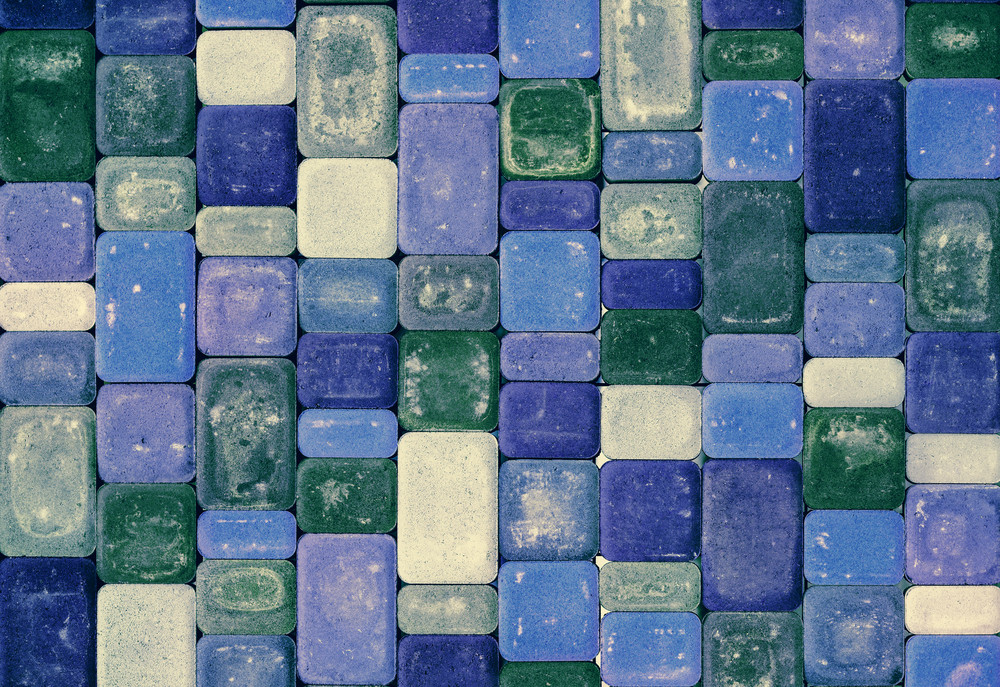 Background texture from colorful concrete tiles royalty free stock