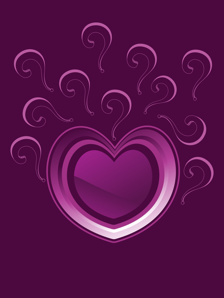 Background With Artwork Decorated Heart