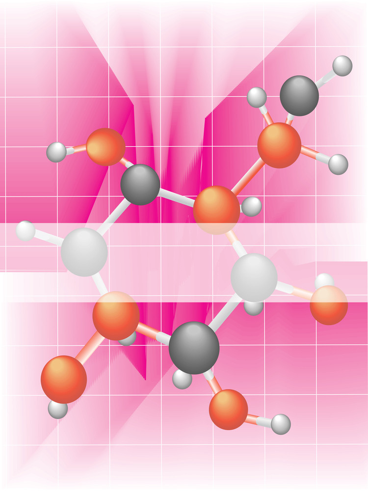 Background With Atomic Structure