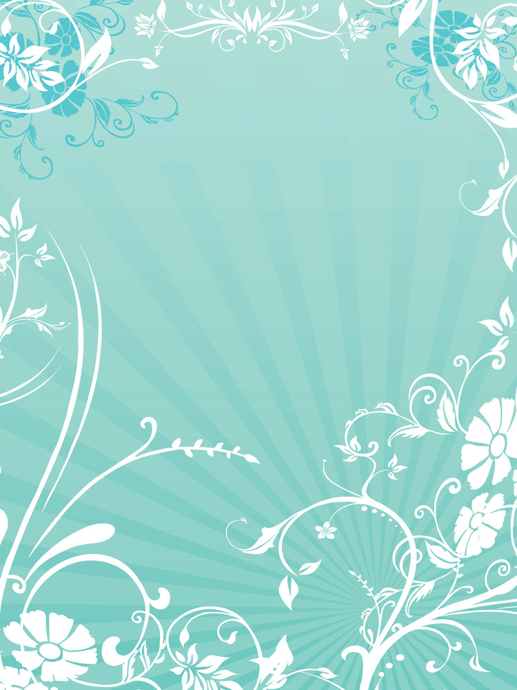 Background With Beautiful Floral Pattern