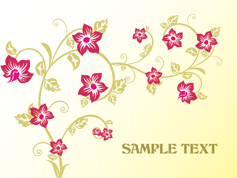Background With Beautiful Floral
