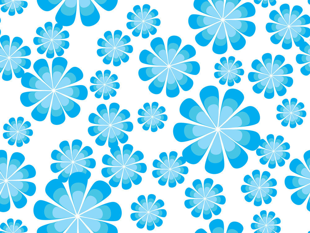 Background With Blue Flower