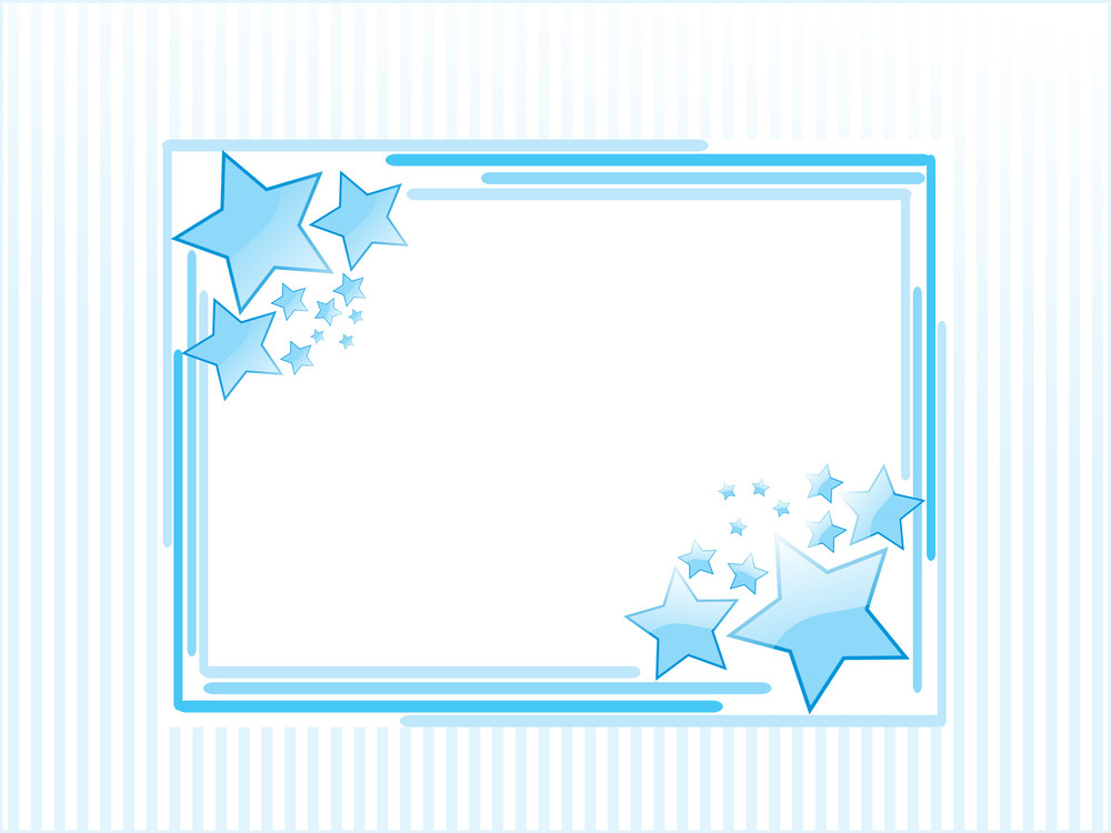 Background With Blue Star