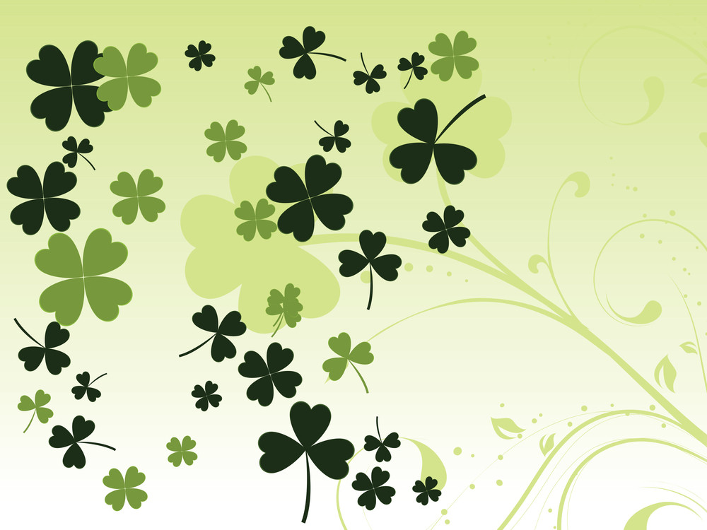 Background With Bottle Green Clover 17 March