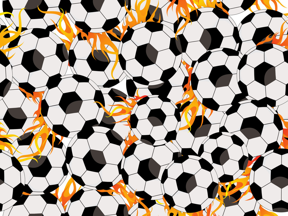 Background With Burning Ball