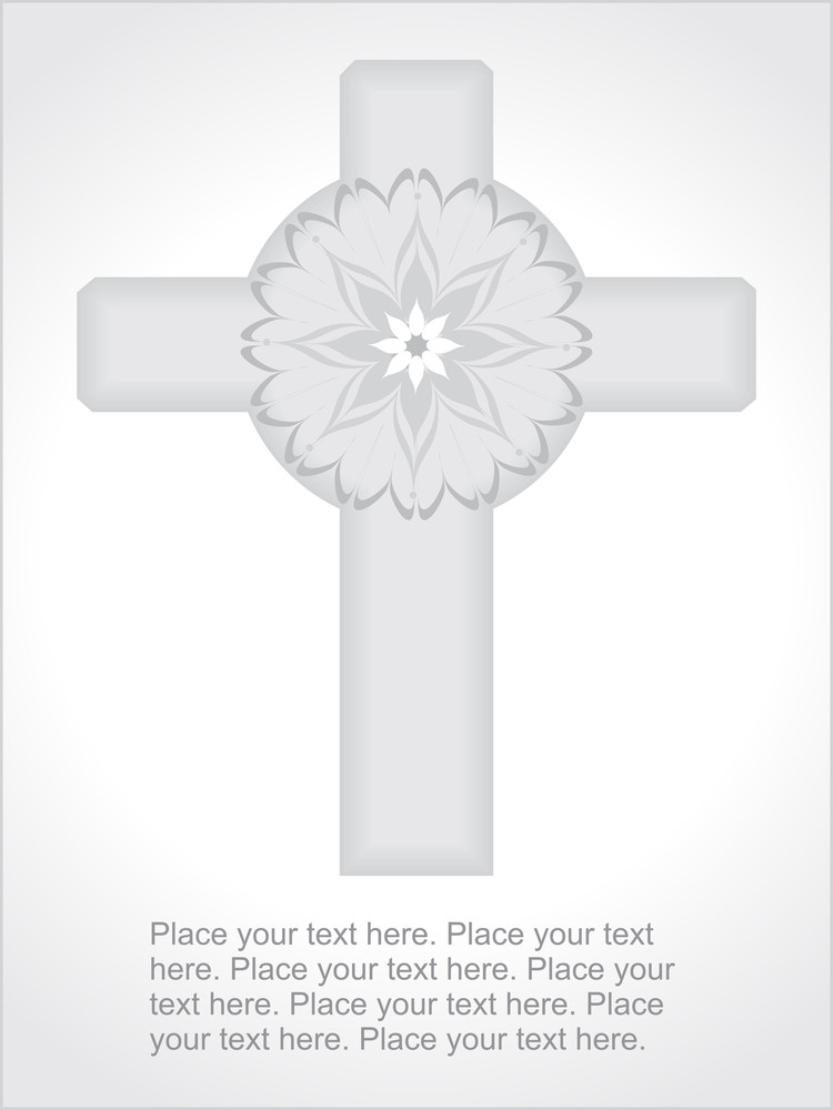 Background With Celtic Cross Illustration