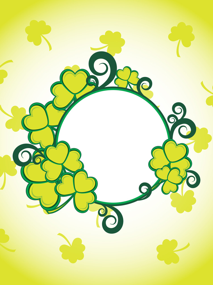 Background With Clover Decorated Frame