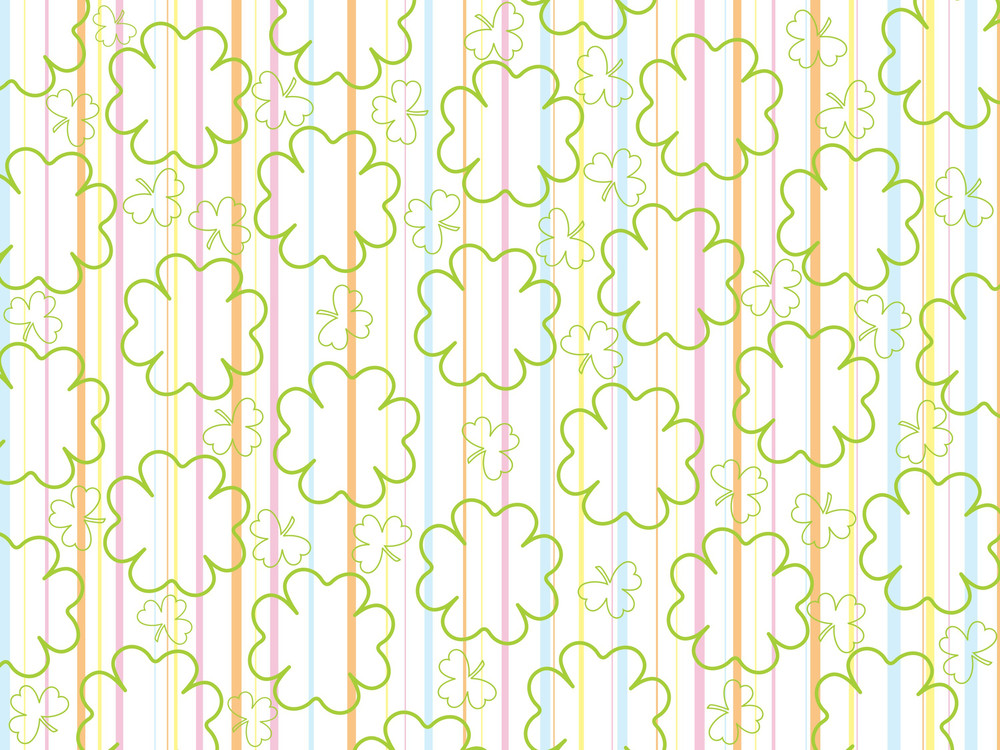 Background With Clover Flower