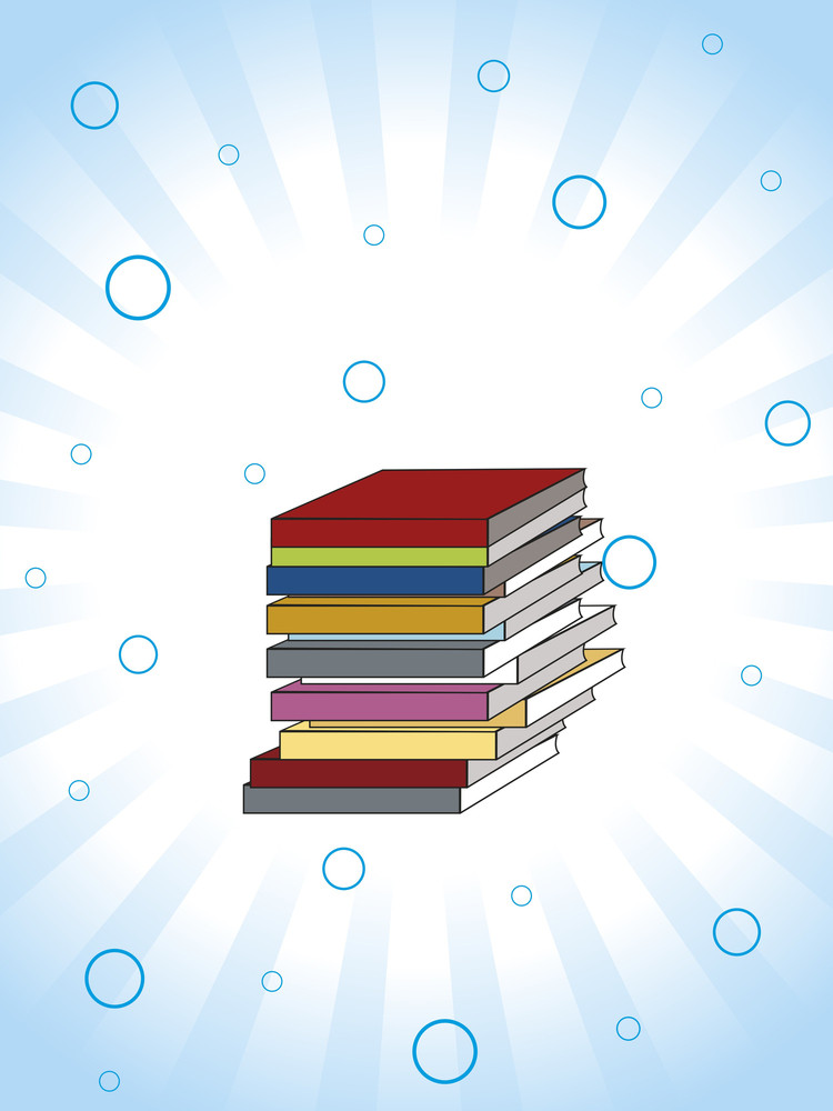 Background With Collection Of Colorful Notebook