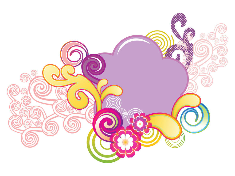 Background With Colorful Artwork
