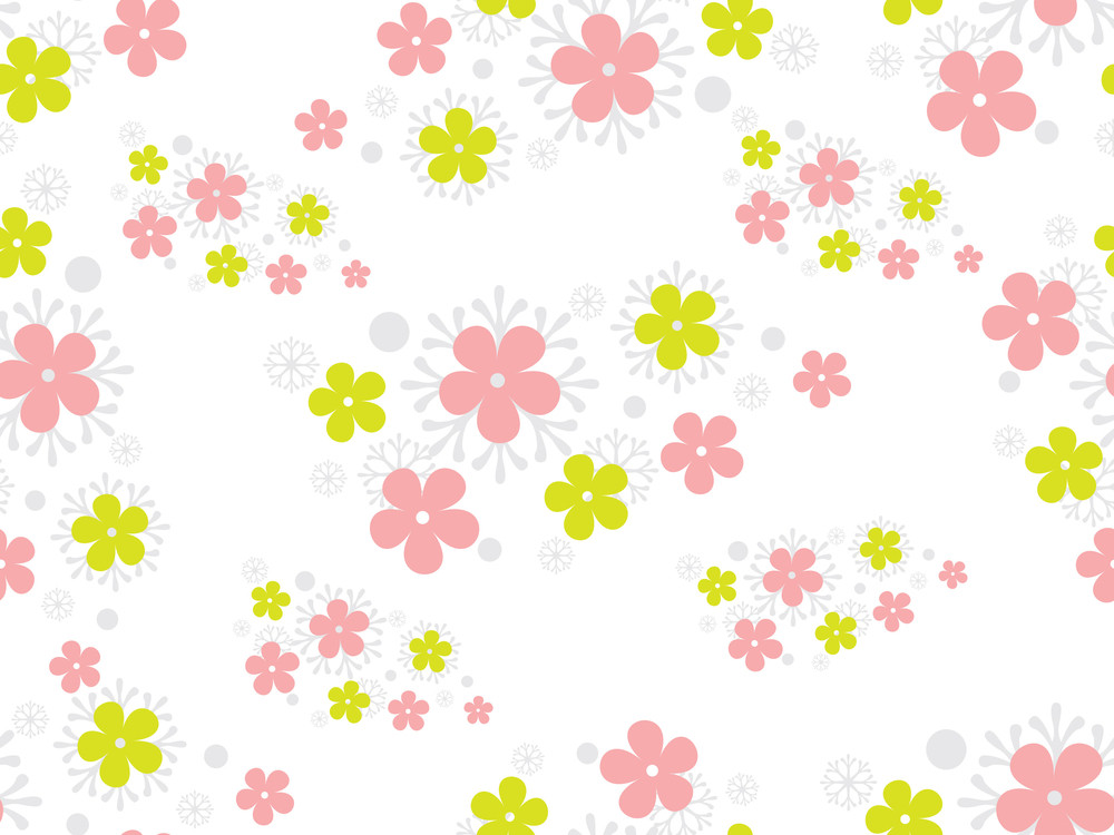 Background With Colorful Blossoms