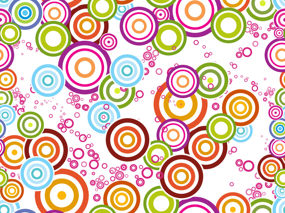 Background With Colorful Circle