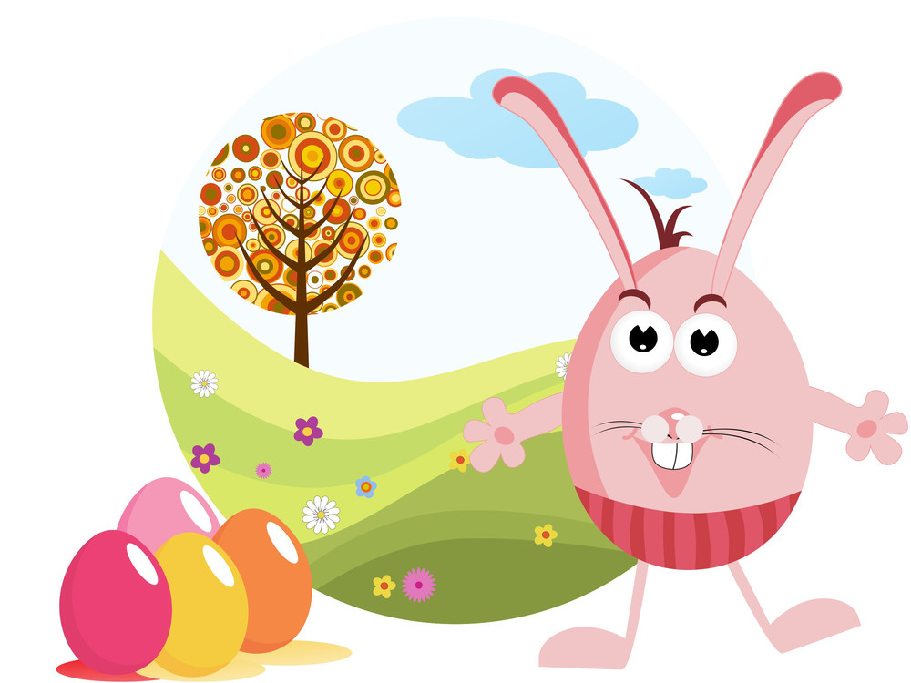 Background With Colorful Egg