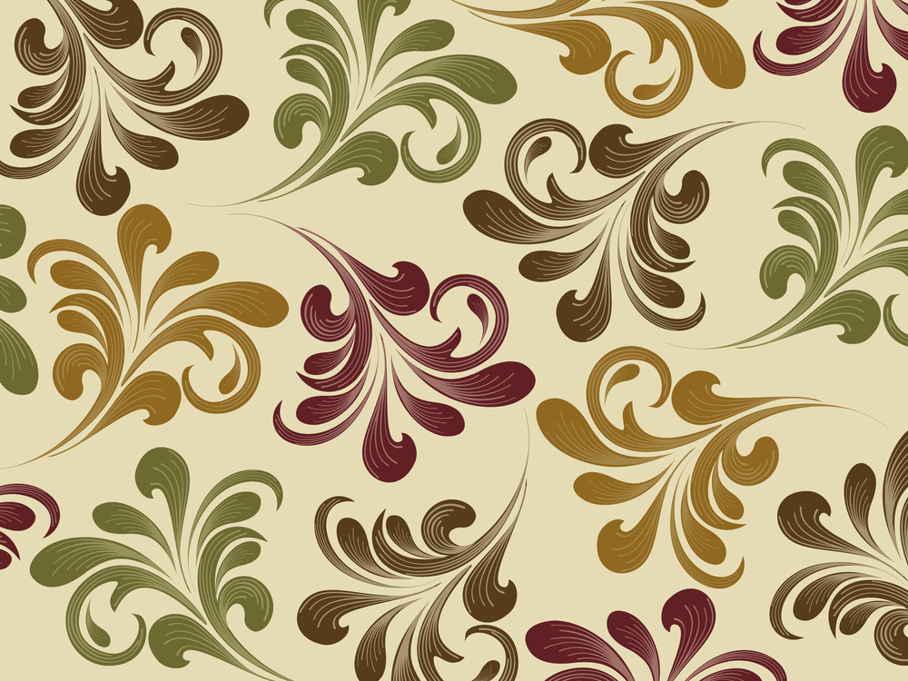 Background With Colorful Floral Pattern