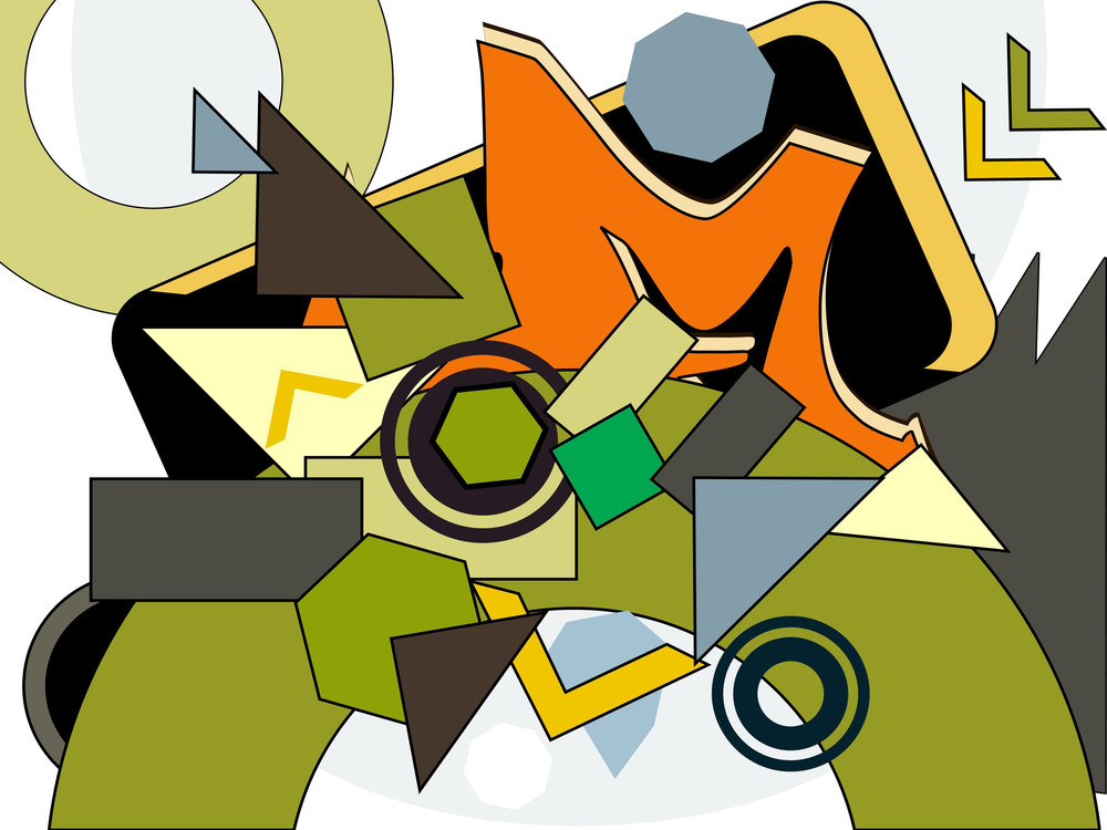 Background With Colorful Graphic Shape