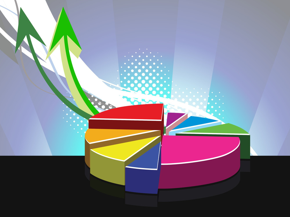 Background With Colorful Pie Graph