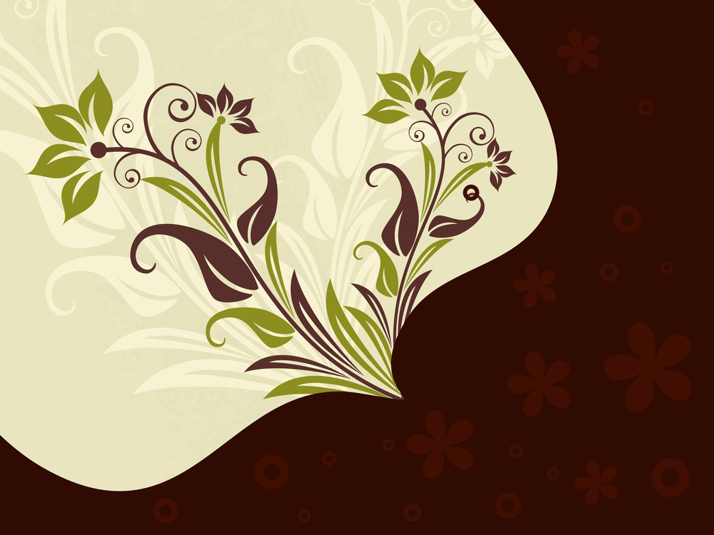 Background With Creative Floral Pattern