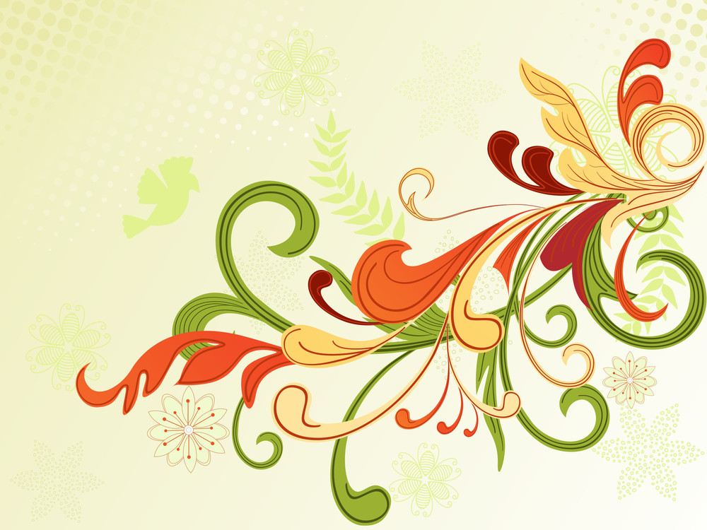 Background With Creative Floral