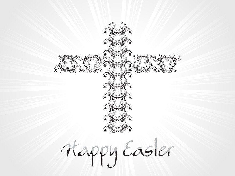Background With Creative Pattern Isolated Cross