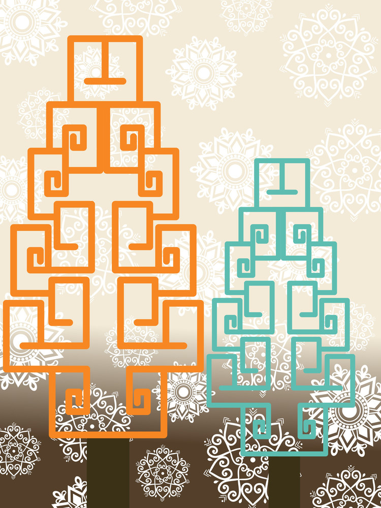 Background With Creative Tree Illustration