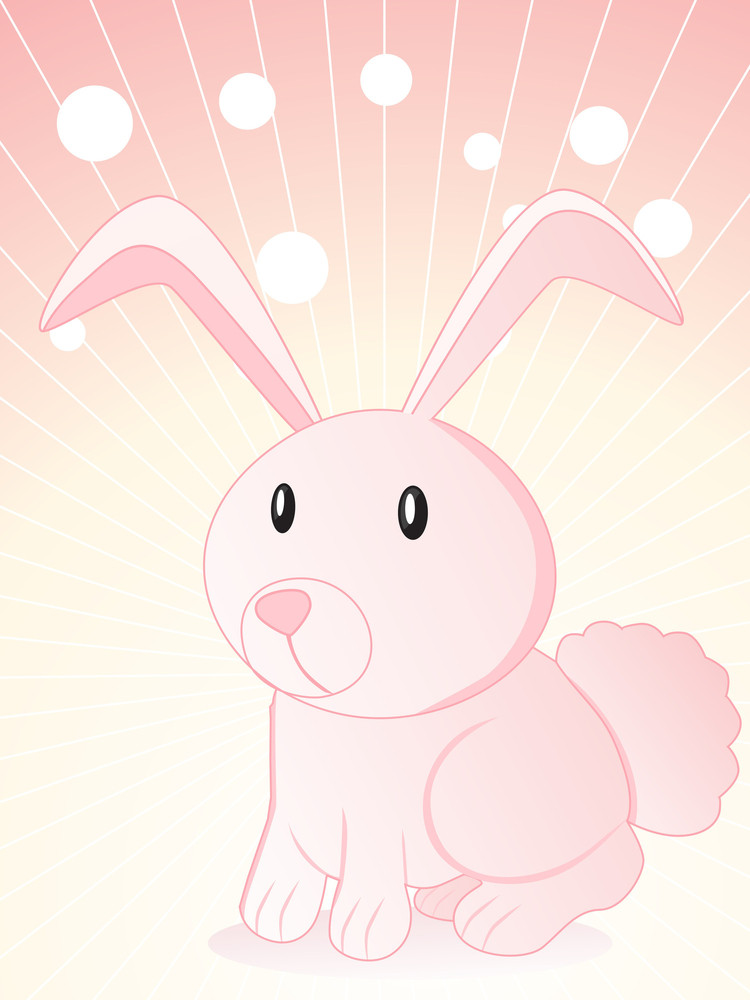 Background With Cute Bunny