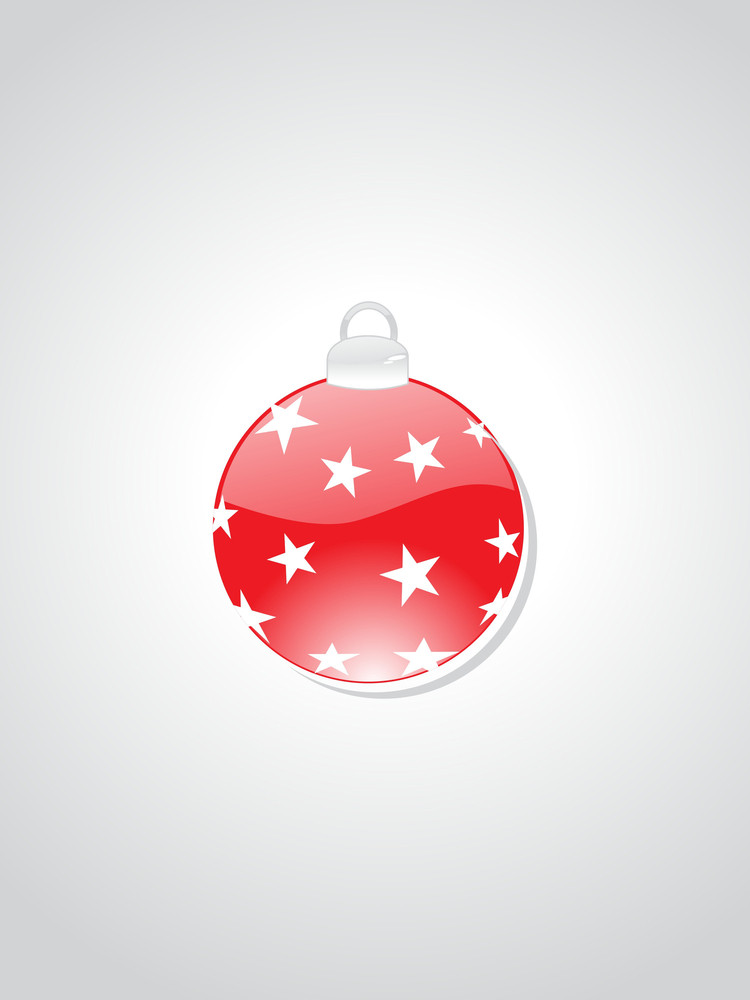 Background With Decorated Ball