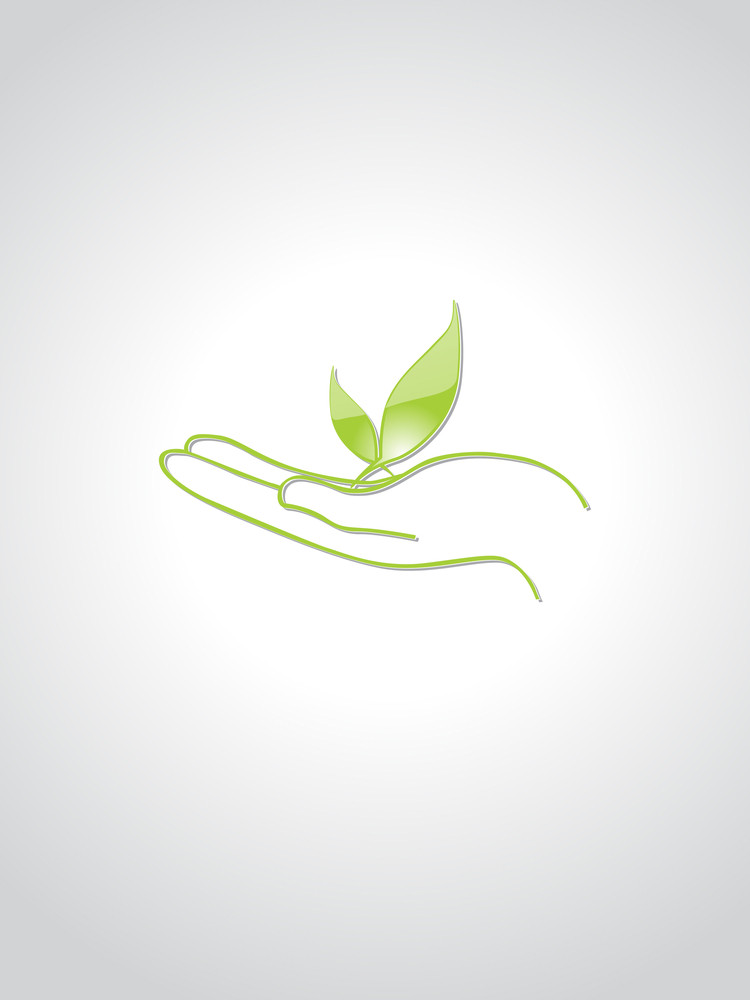 Background With Eco Leaf