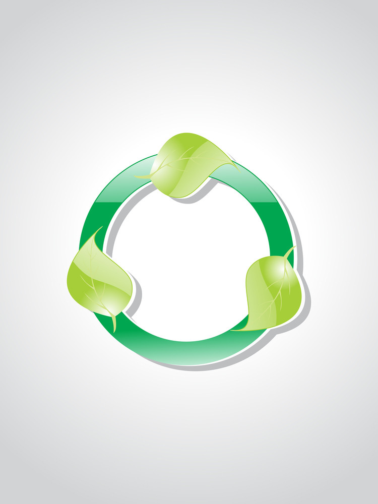 Background With Ecological Button