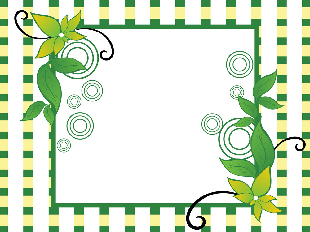 Background With Ecology Element Decorated Frame