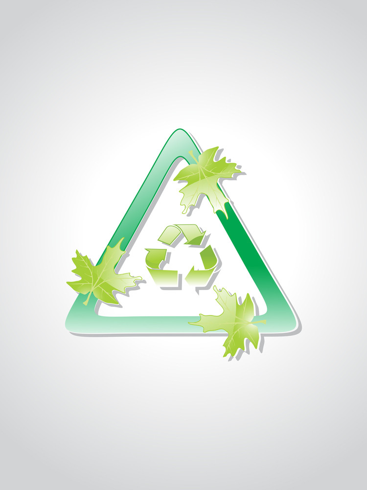 Background With Ecology Icons