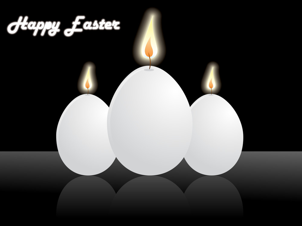 Background With Egg Shape Candle