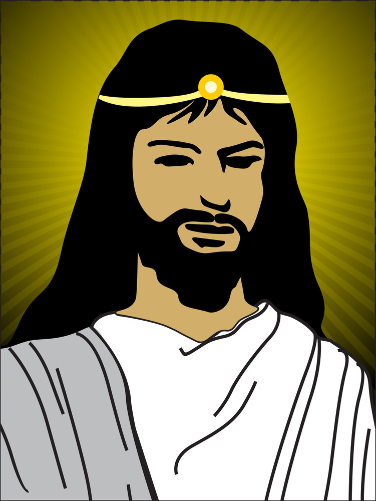 Background With Face Of Jesus