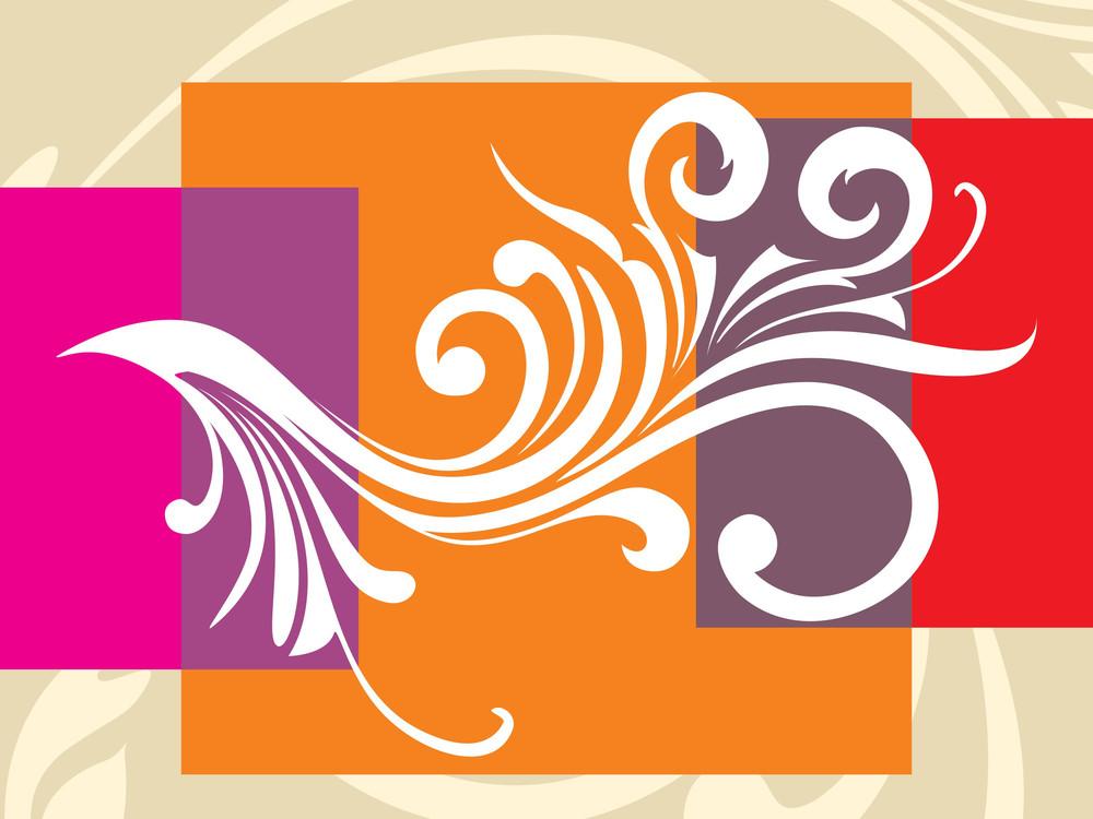 Background With Filigree Pattern Illustration