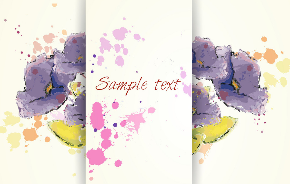 Background With Floral And Butterflies Vector Illustration