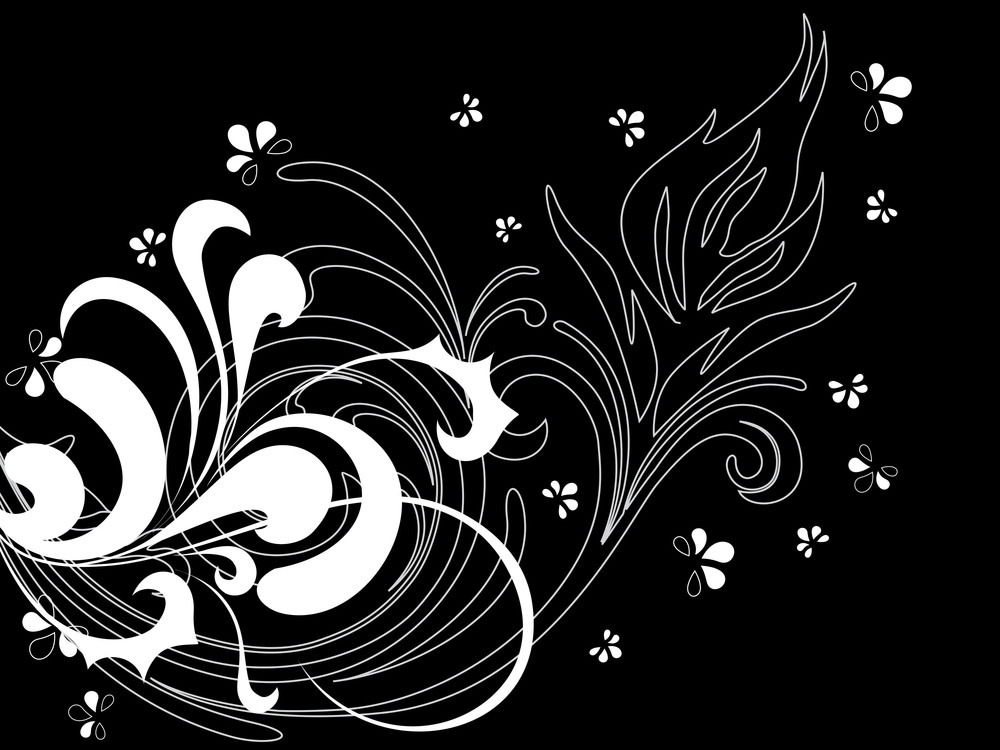 Background With Floral Pattern Illustration