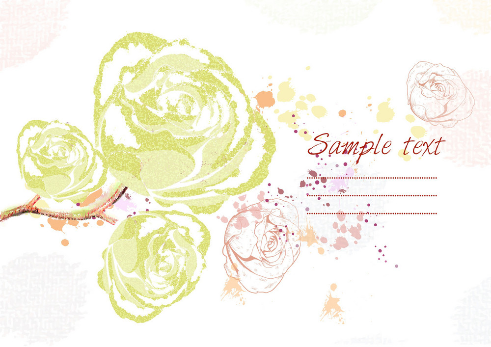 Background With Floral Vector Illustration