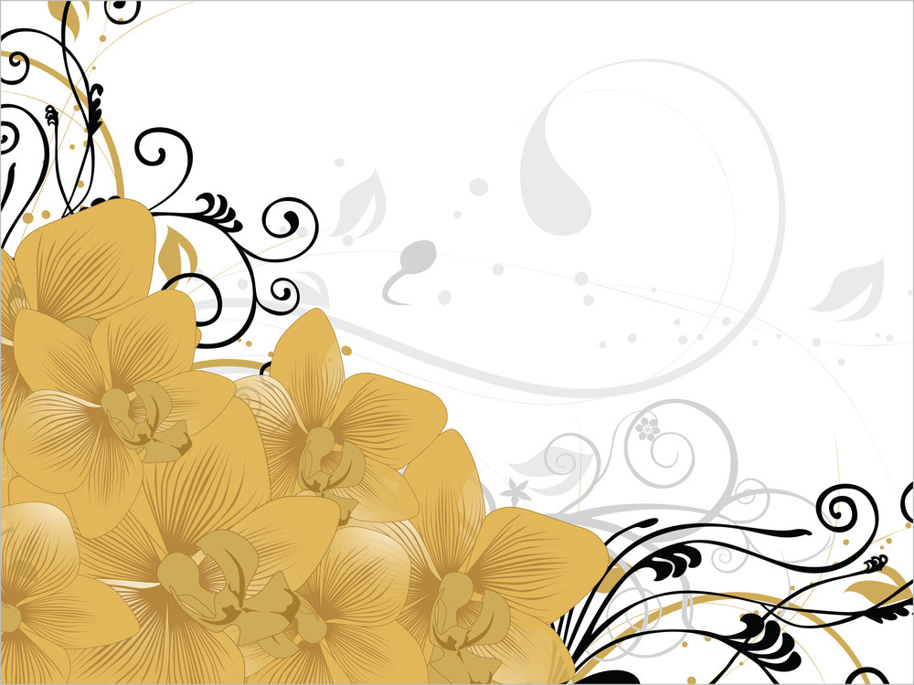 Background With Flower Pattern