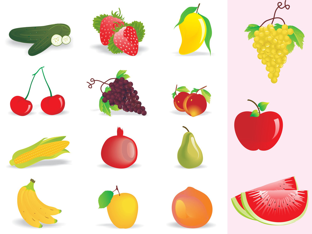 Background With Fresh Fruits
