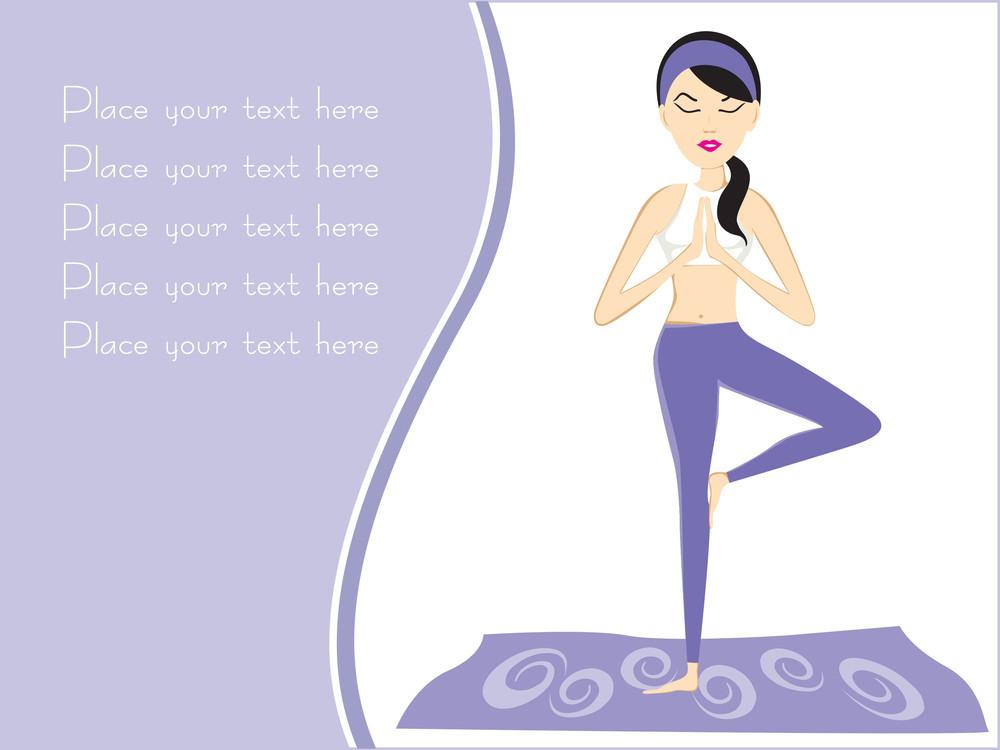 Background With Girl Doing Yoga