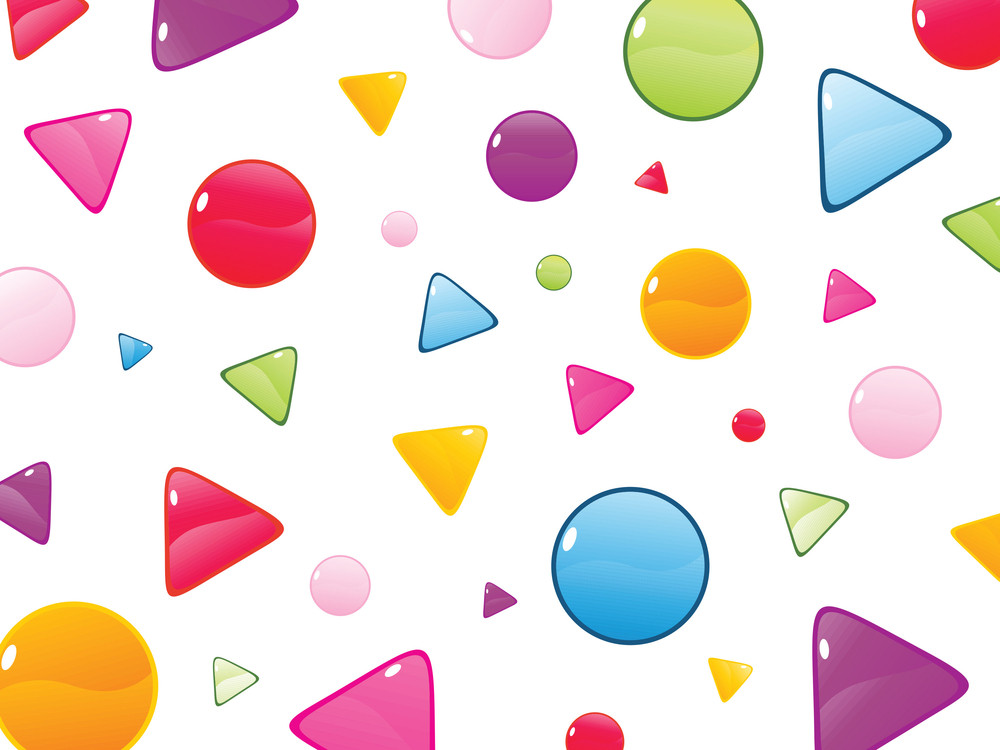 Background With Glossy Cone And Circles