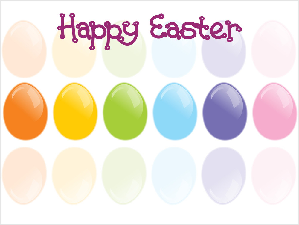 Background With Glossy Eggs
