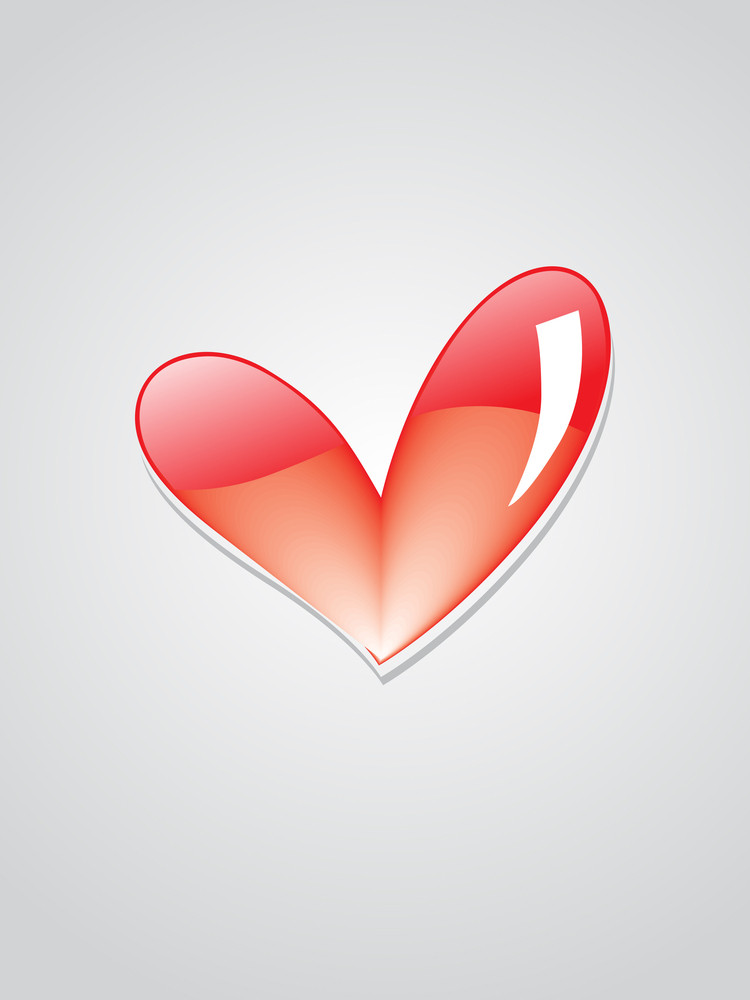 Background With Glossy Heart Illustration