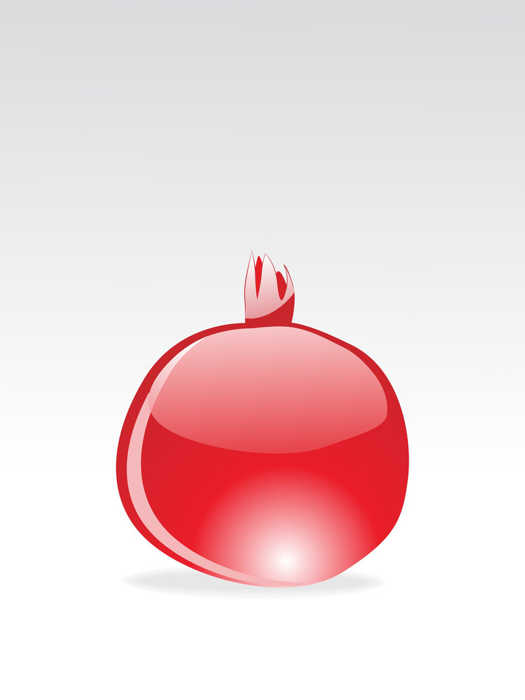 Background With Glossy Pomegranate