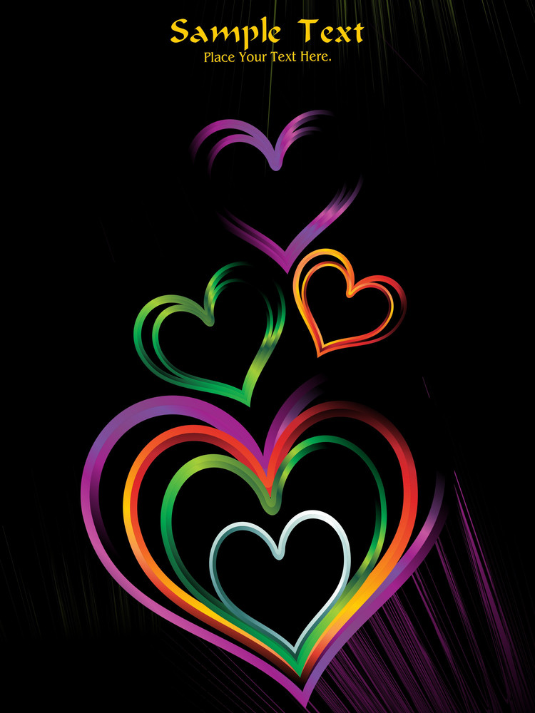Background With Glossy Rainbow Heart