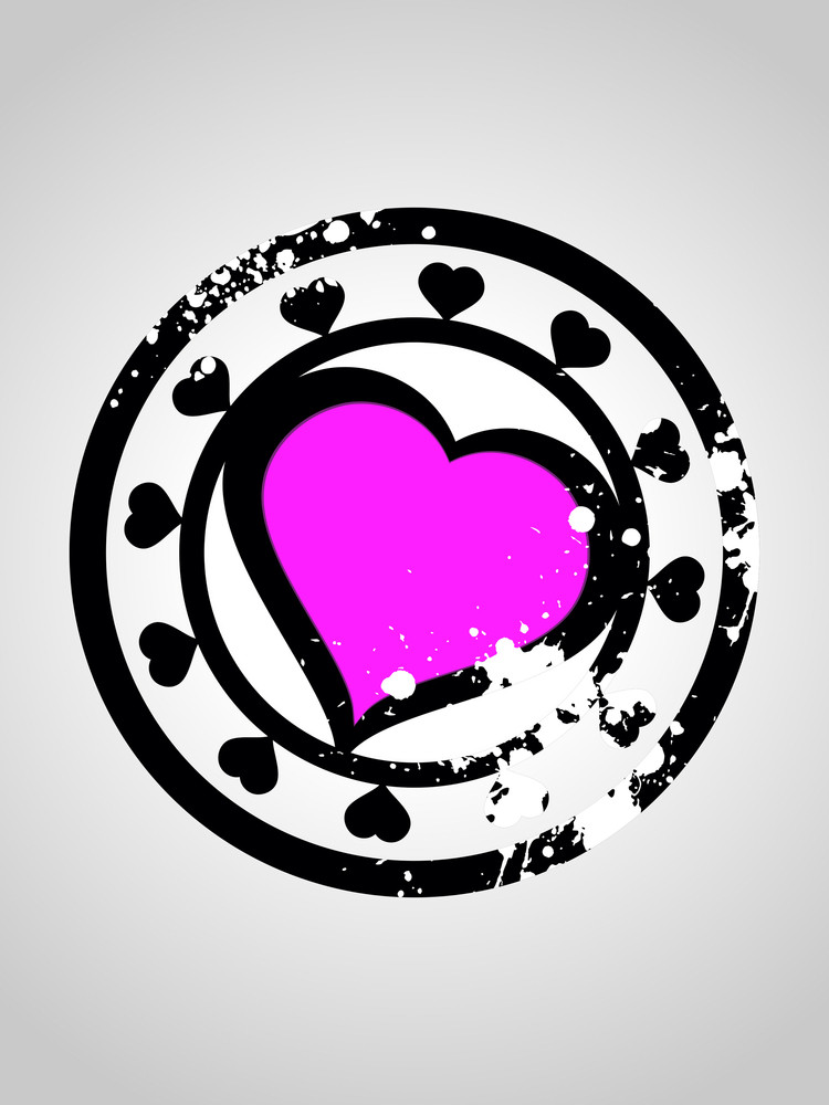 Background With Grungy Romantic Heart