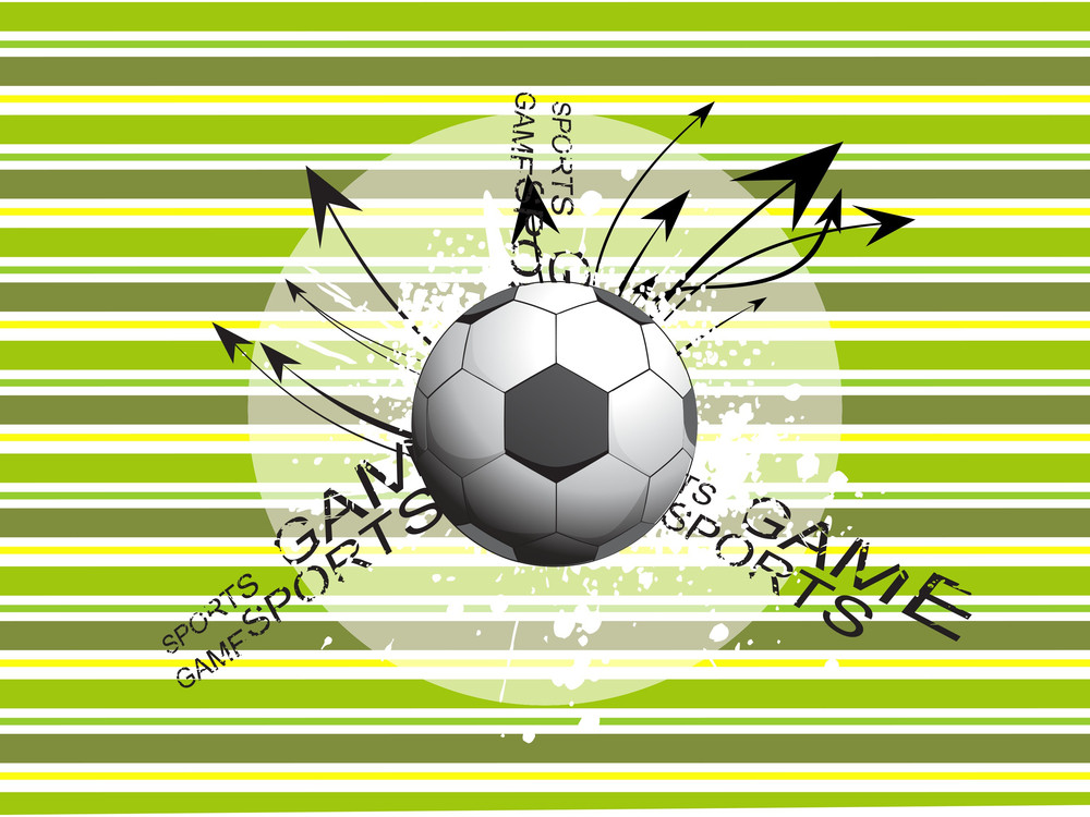 Background With Grungy Soccer And Arrows