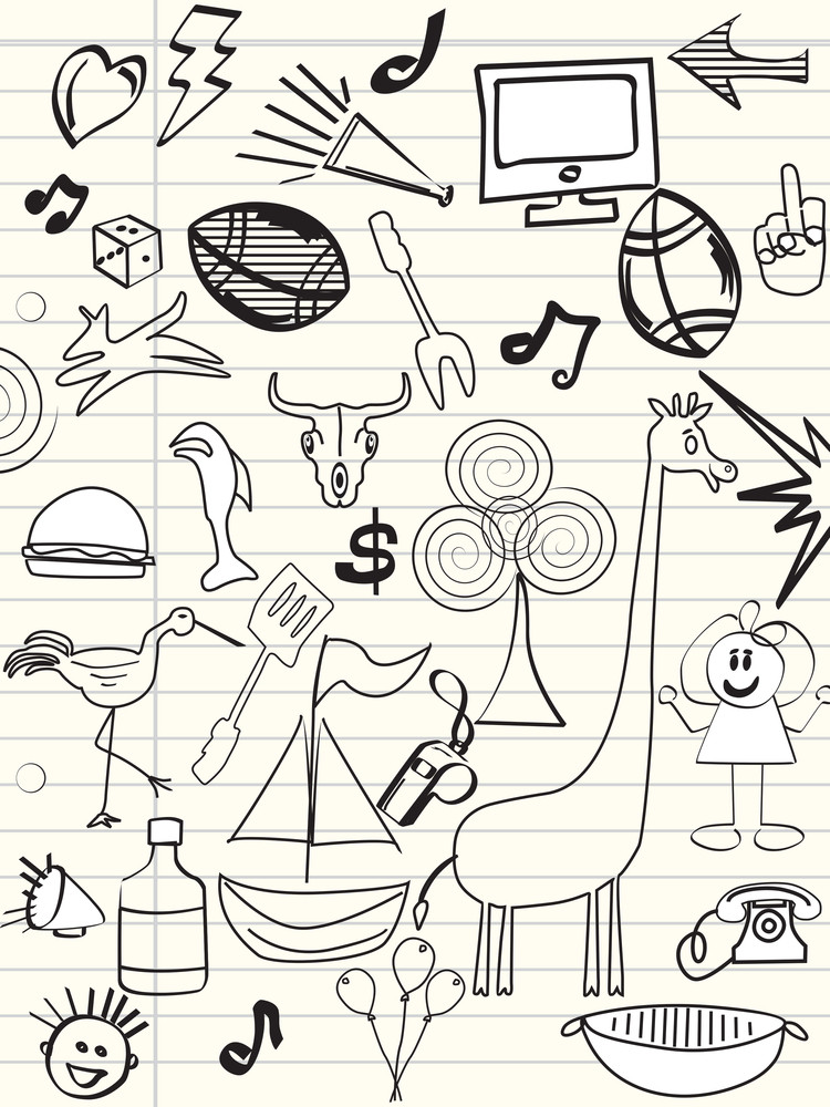 Background With Hand Drawn Icons
