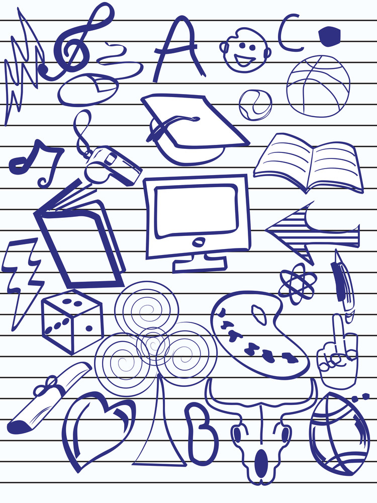 Background With Hand Drawn Object